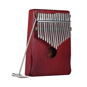 17 Keys Kalimba Thumb Piano - Solid Mahogany Wood