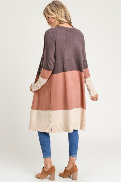 Coloration Long Sleeve Cardigan