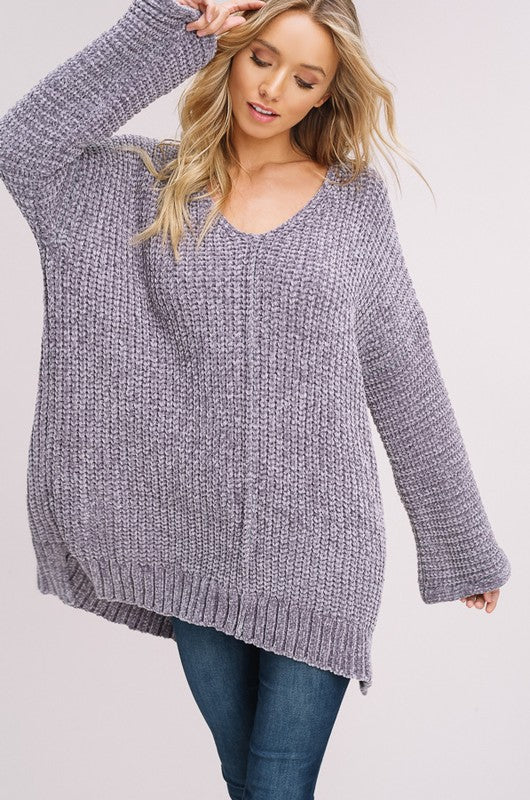 Chenille Pull Over Sweater