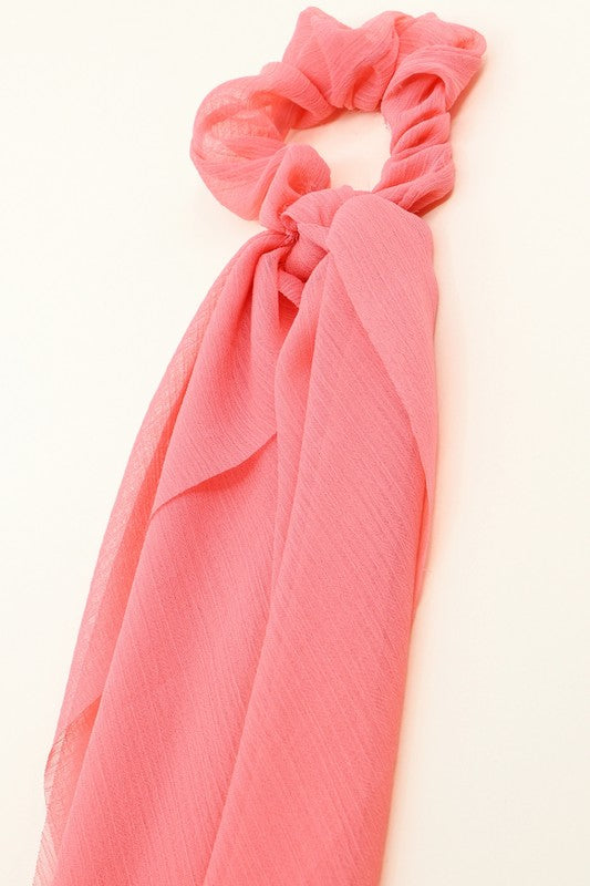 Scrunchie and/or Detachable Scarf: Pink