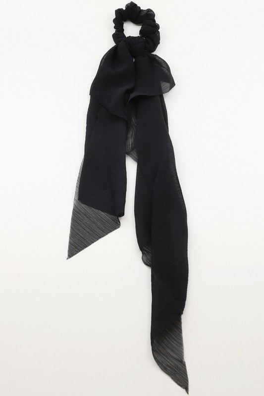 Scrunchie and/or Detachable Scarf: Black