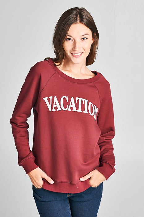 Vacation Print Sweater