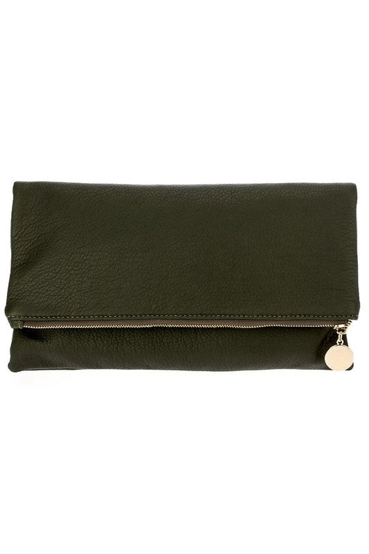 Solid Flap Over Messenger Clutch