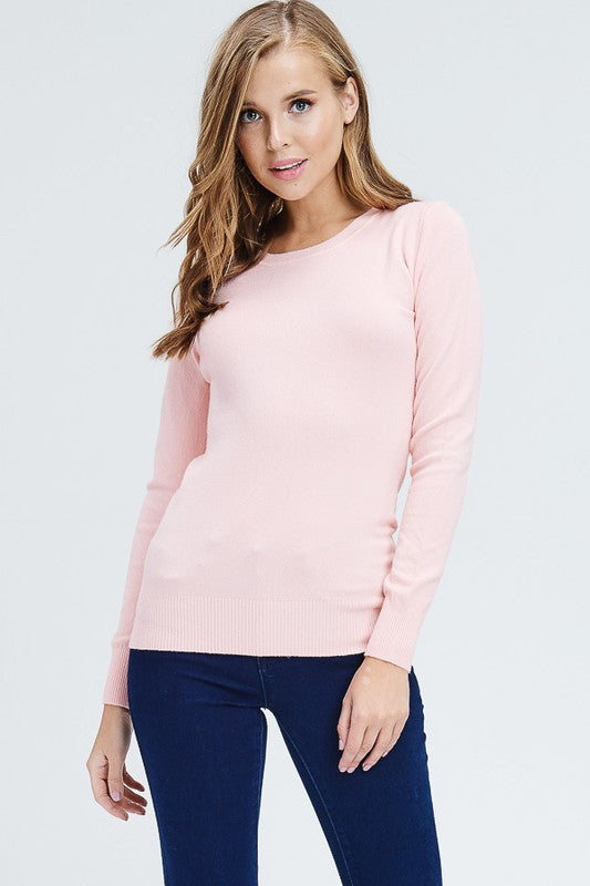 Blush Crew Neck Top