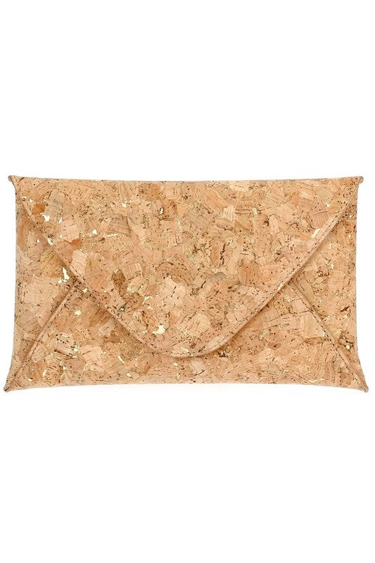 Cork Envelope Style Clutch