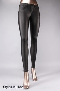 Black Faux Leather Pant