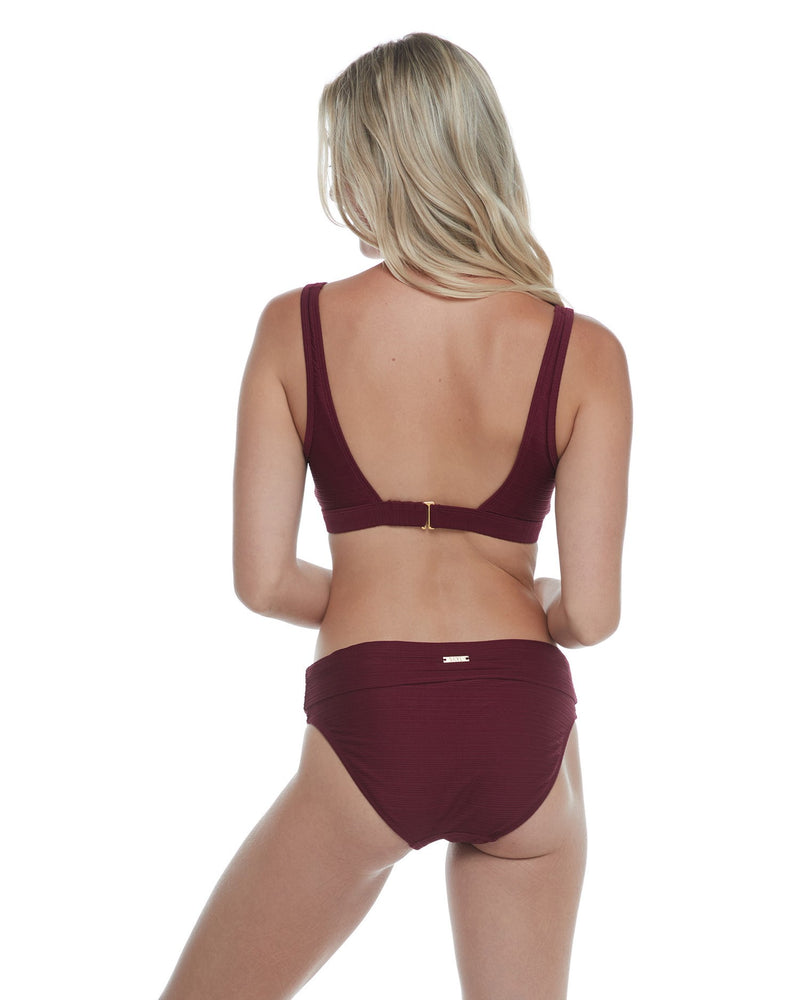 Mid Waist Fold Over Bottom - GEMS (Romance Red)