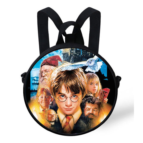 Harry Potter Backpack 9-Inch Cute Small Round Bag