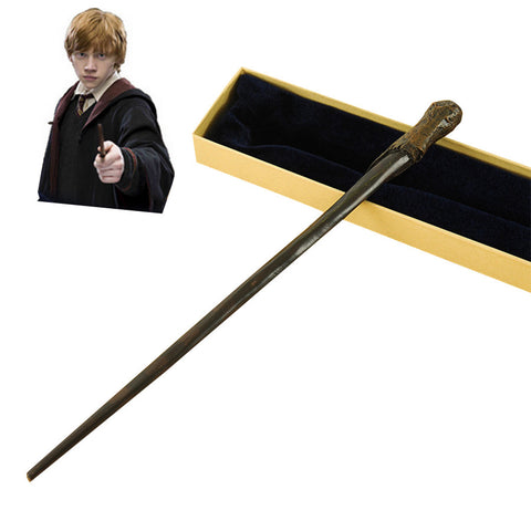 Metal Core Ron Weasley Magic Wand/  Potter Magical Wands/Quality Gift Box Packing   for harry potter cosplay