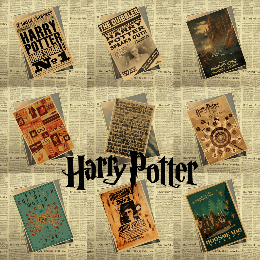 New Harry Potter Vintage Retro Kraft Poster Decorative DIY Wall ...