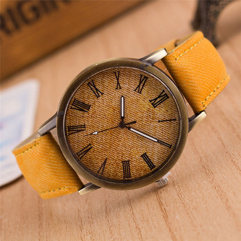 Luxury Retro Leather Analog Watch  Christmas Gift [Buy 1 Get 1 Free]