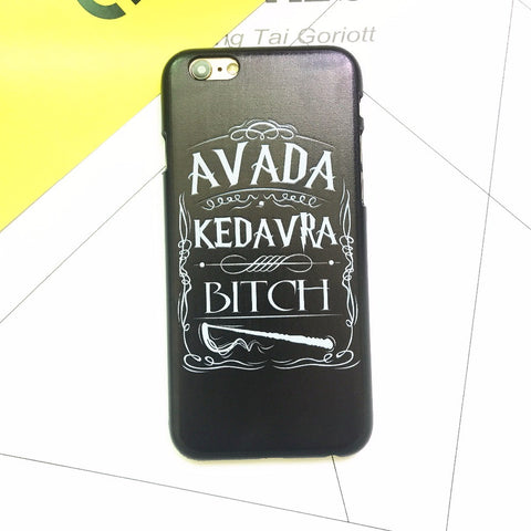 Phone Case For Apple iPhone 4 4S SE 5 5S 5C 6 6S 7 Plus Avada Kedavra Bitch Shirt For Harry Potter Design Back Cover Coque Capa