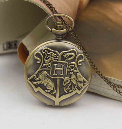 pocket watch necklace Hogwarts school