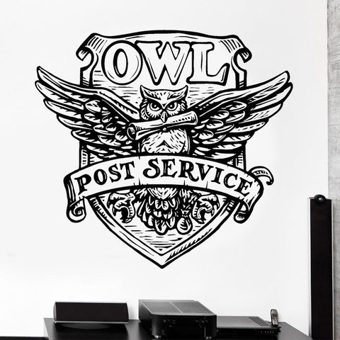 New Arrival Harry Potter The Hogwarts Magic School Badge Owl Wall Stickers Vinyl Art Home Decor Self-adhesive Wallpaper DIY H-13