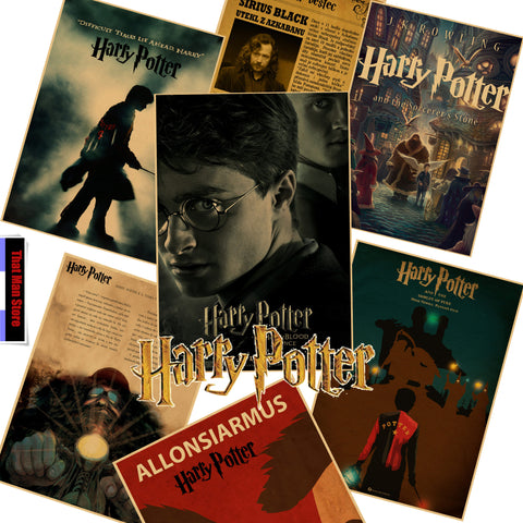 New 2017 That Man Store Harry Potter retro Poster Retro Kraft Paper Bar Cafe Home Decor Painting Wall Sticker