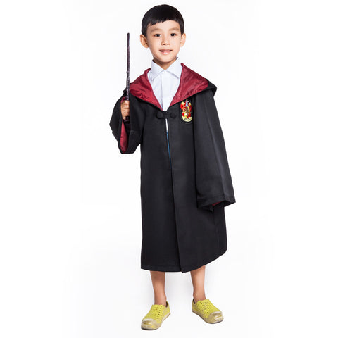 Movie Harry Potter Cosplay Costume Gryffindor/Slytherin School Hoodie Robes Kids Gown Clothing Cloak Halloween Costumes
