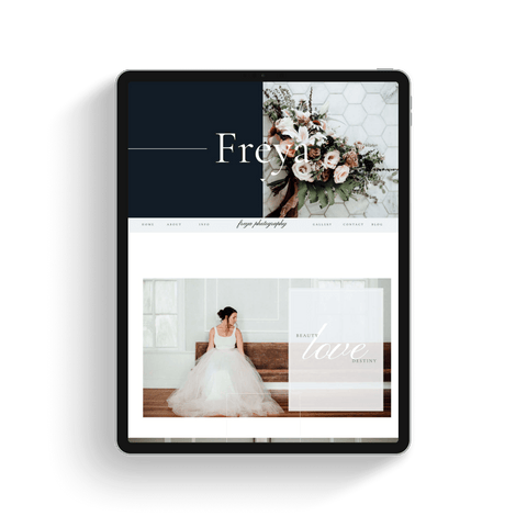 Freya Showit Website Template