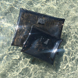 ZIP POUCH | CLEAR CARBON
