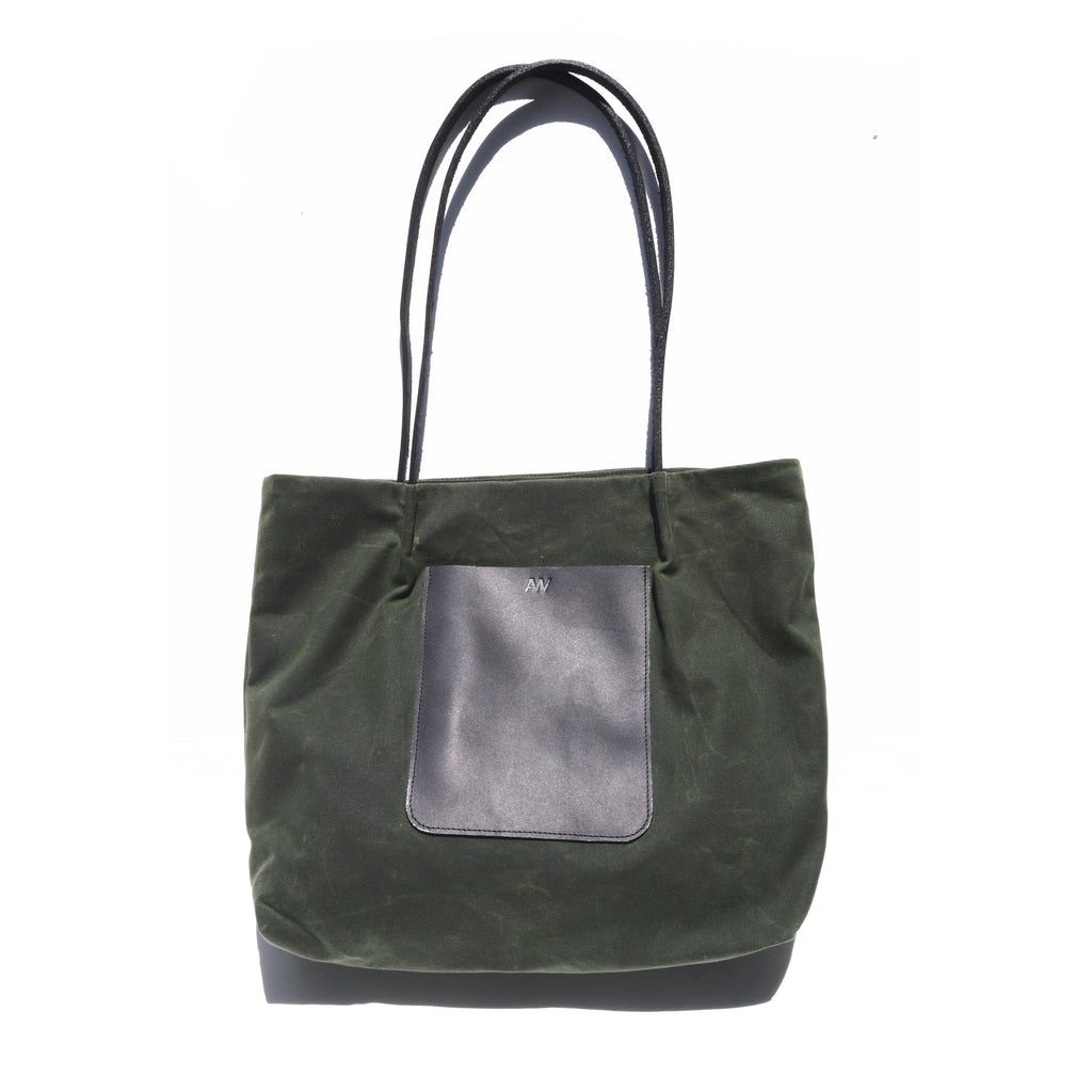 ON THE GO POCKET TOTE | OLIVE