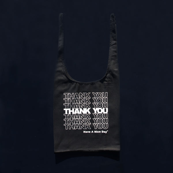 STACKED THANK YOU in BLACK | GRATITUDE GROCERY BAGS