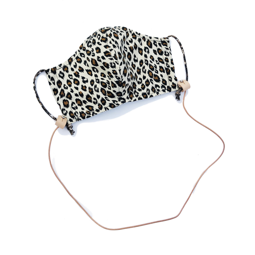 FACE MASK HOLDER | BLK + NATURAL