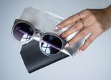 SUNGLASS CASE | BLACK +  SILVER + NATURAL