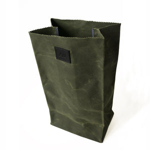 WAXED CANVAS LUNCH BAG | OLIVE