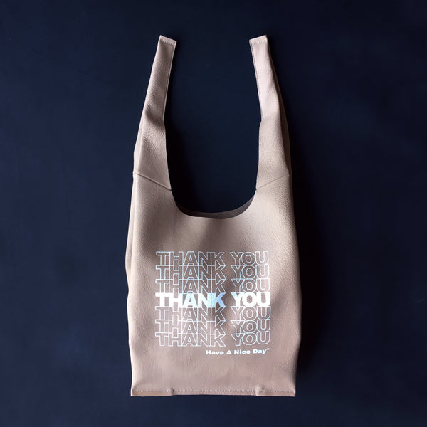 STACKED THANK YOU | HEATHERS LEATHER | GRATITUDE BAG