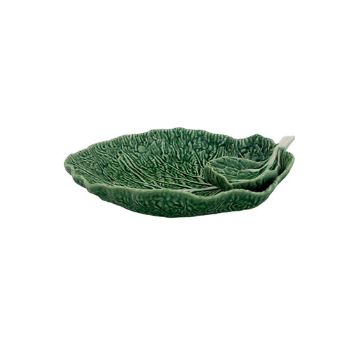 Bordallo Pinheiro Cabbage Platter Chip And Dip 34