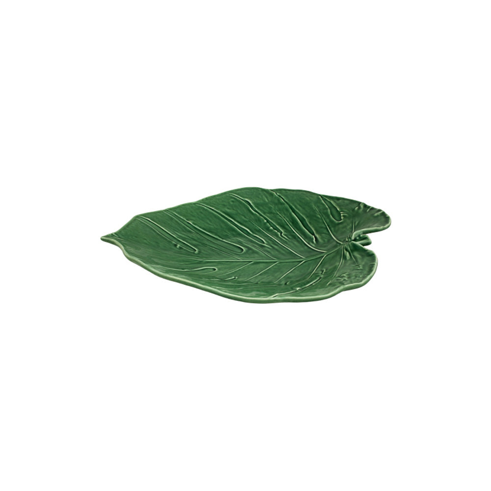 Bordallo Pinheiro Swiss Cheese Platter Leaf 43