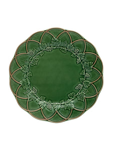 Bordallo Pinheiro Hunting Fruit Plate 24 Green/Brown - Set of 4