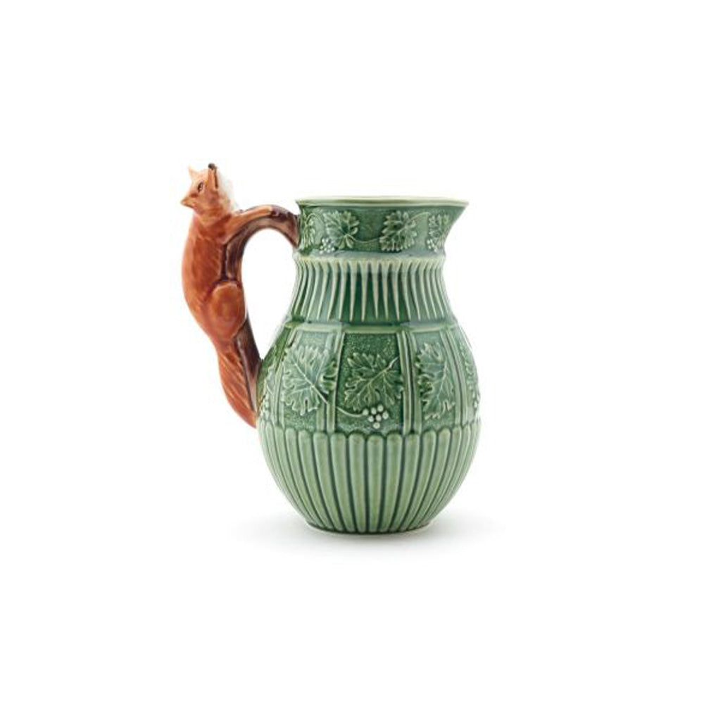 Bordallo Pinheiro Wine Pitcher Fox