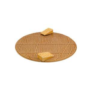 Bordallo Pinheiro Cheese Tray with Yellow Cheese