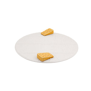 Bordallo Pinheiro White Cheese Tray with Yellow Cheese