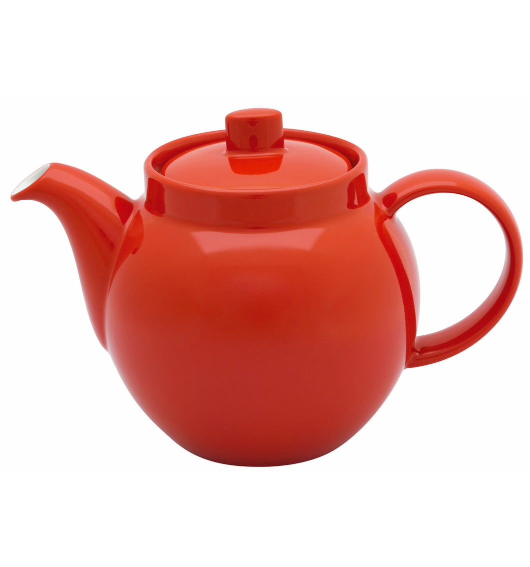 Vista Alegre Colours Porcelain Hand-painted Red Tea Pot