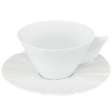 Load image into Gallery viewer, Vista Alegre Porcelain Matrix Tea Cup & Saucer - Set of 4