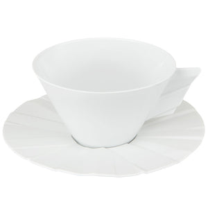 Vista Alegre Porcelain Matrix Tea Cup & Saucer - Set of 4