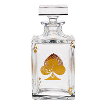 Load image into Gallery viewer, Vista Alegre Crystal Poker Whisky Decanter