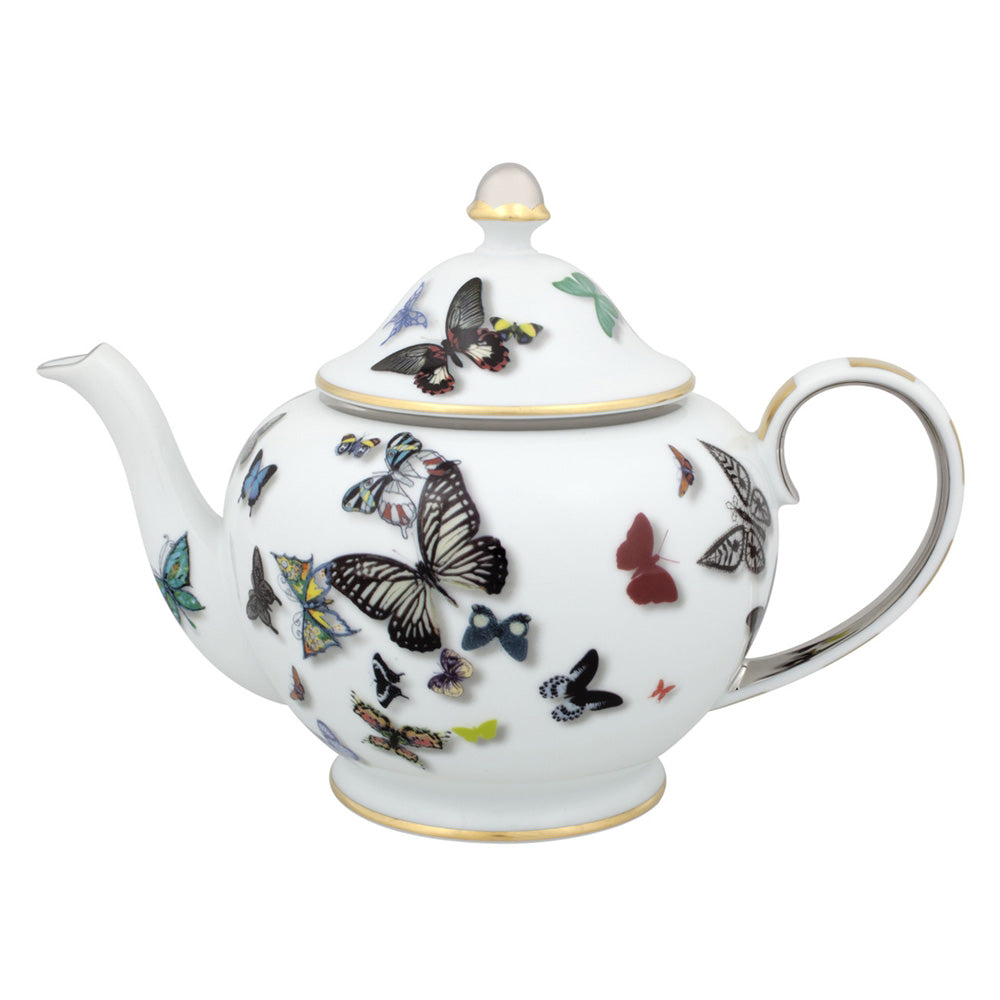 Vista Alegre Porcelain Butterfly Parade Tea Pot By Christian Lacroix