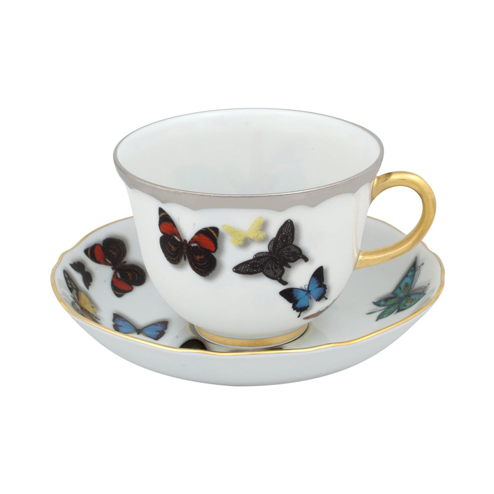 Vista Alegre Porcelain Butterfly Parade Tea Cup & Saucer By Christian Lacroix