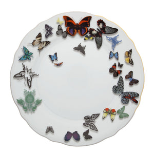 Vista Alegre Porcelain Butterfly Parade Dinner Plate By Christian Lacroix - Set of 4