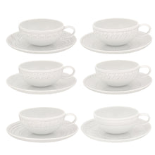 Load image into Gallery viewer, Vista Alegre Porcelain Ornament Set Of 6 Tea Cups & Saucers