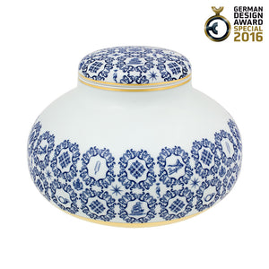 Vista Alegre Porcelain Transatlântica Low Pot with Lid