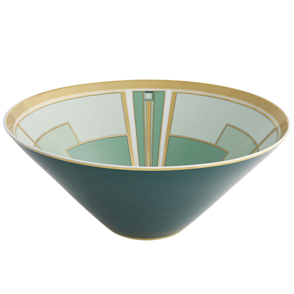Vista Alegre Porcelain Emerald Salad Bowl