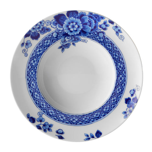 Vista Alegre Porcelain Blue Ming Soup Plate - Set of 4