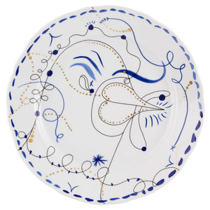 Vista Alegre Porcelain Folkifunki Dinner Plate Chicken - Set of 4