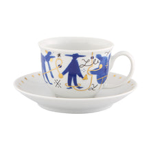 Load image into Gallery viewer, Vista Alegre Porcelain Folkifunki Coffee Cup and Saucer - Set of 4