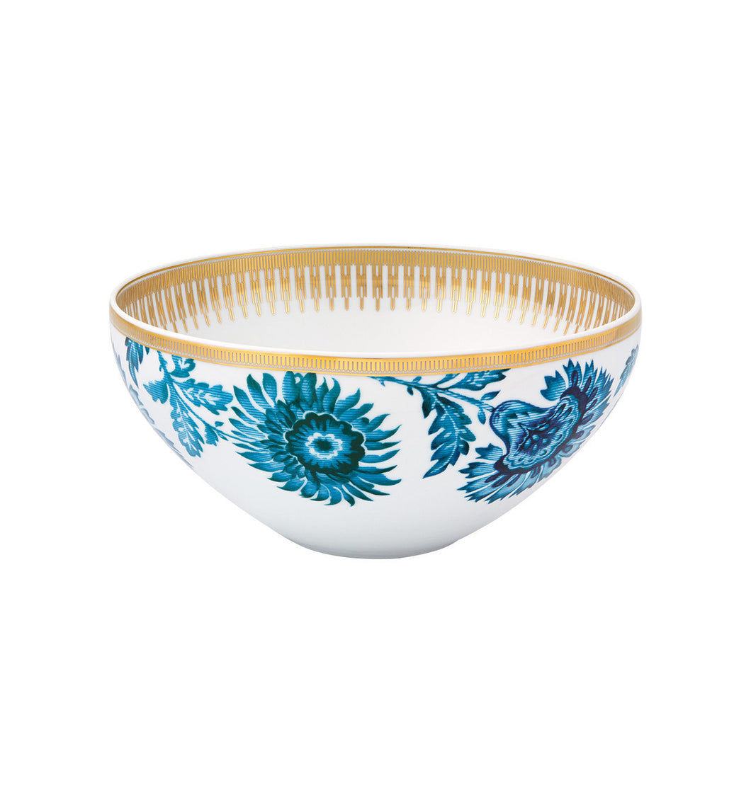 Vista Alegre Porcelain Gold Exotic Salad Bowl