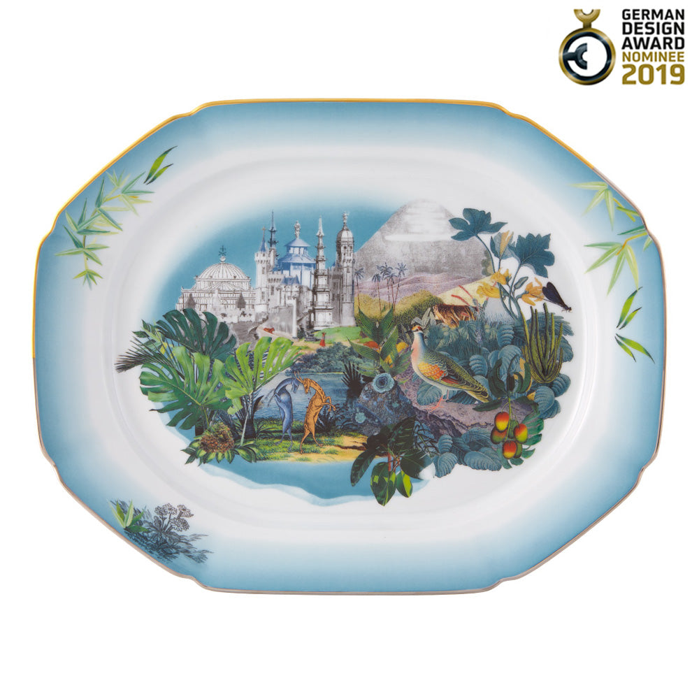 Vista Alegre Porcelain Rêveries Small Platter By Christian Lacroix