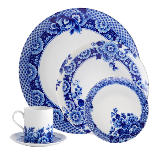 Vista Alegre Porcelain Blue Ming 5 Piece Dinnerware Set